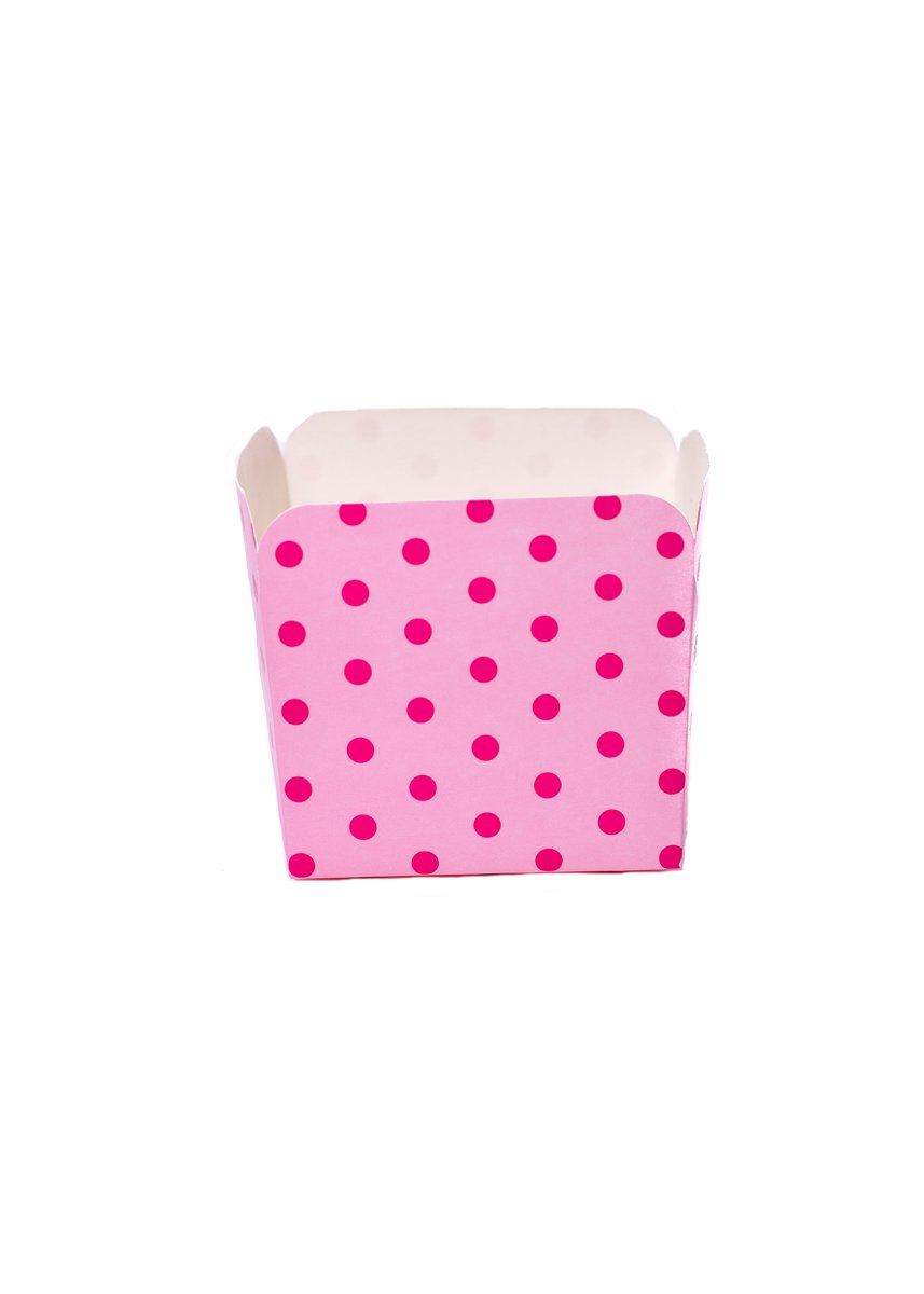 Simply Baked Spade Double Stripe Square Cup, Pink SQ-12 DBL PNK