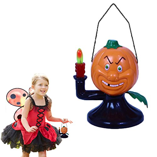 Dazzling Toys Electric Halloween Pumpkin Ghost With Lights and Scary Sounds. Perfect Halloween Party Gift!