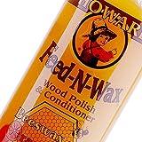 Howard FW0016 Feed-N-Wax Wood Polish and Conditioner, Beeswax & Orange Oil, 16-Ounce