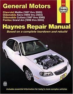 gm malibu alero cutlass grand am 1997 thru 2003 haynes rh amazon com Oldsmobile Toronado Oldsmobile Cutlass Supreme