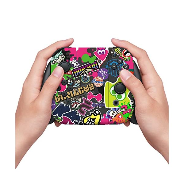"Controller Gear Nintendo Switch Skin & Screen Protector Set, Officially Licensed By Nintendo - Splatoon 2 ""Stick Em' Up"" - Nintendo Switch 3"
