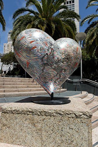 24 x 36 Giclee print ofSculpture Hearts in San Francisco public art installation Union Square San Francisco California r58 2012 by Highsmith, Carol - Square Francisco San Union In