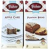 Fisher Harvest Pumpkin Bread and Apple Cake Baking Mix Bundle