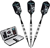 Viper Diamond 90% Tungsten Soft Tip Darts with Storage/Travel Case, Black Rings, 16 Grams