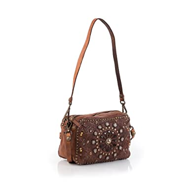 Bauletto Mini Bag Handtasche Leder 20 cm cognac Campomaggi G7hAUS