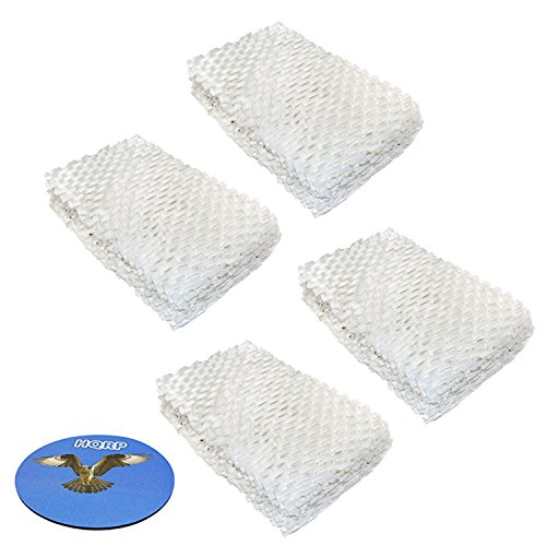 Price comparison product image HQRP 4-pack Wick Filter for Idylis 828413B002 Replacement fits IHUM-10-140 / I HUM 10 140 4-Gallon Humidifier + HQRP Coaster