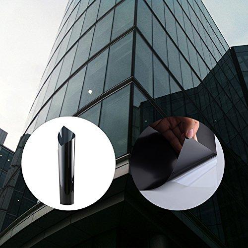 Burst Foil - LianLe Glass Film for Windows Black Light-proof Heat Insulation Windows Film Self-adhesive Anti-burst Foil Glass Film,B