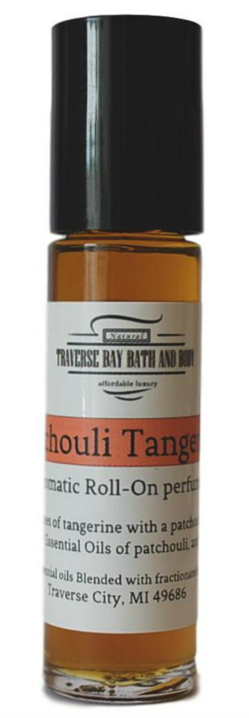 Patchouli Tangerine aromatic perfume oil, Synergy Blend, blended with 100% pure Essential Oils.