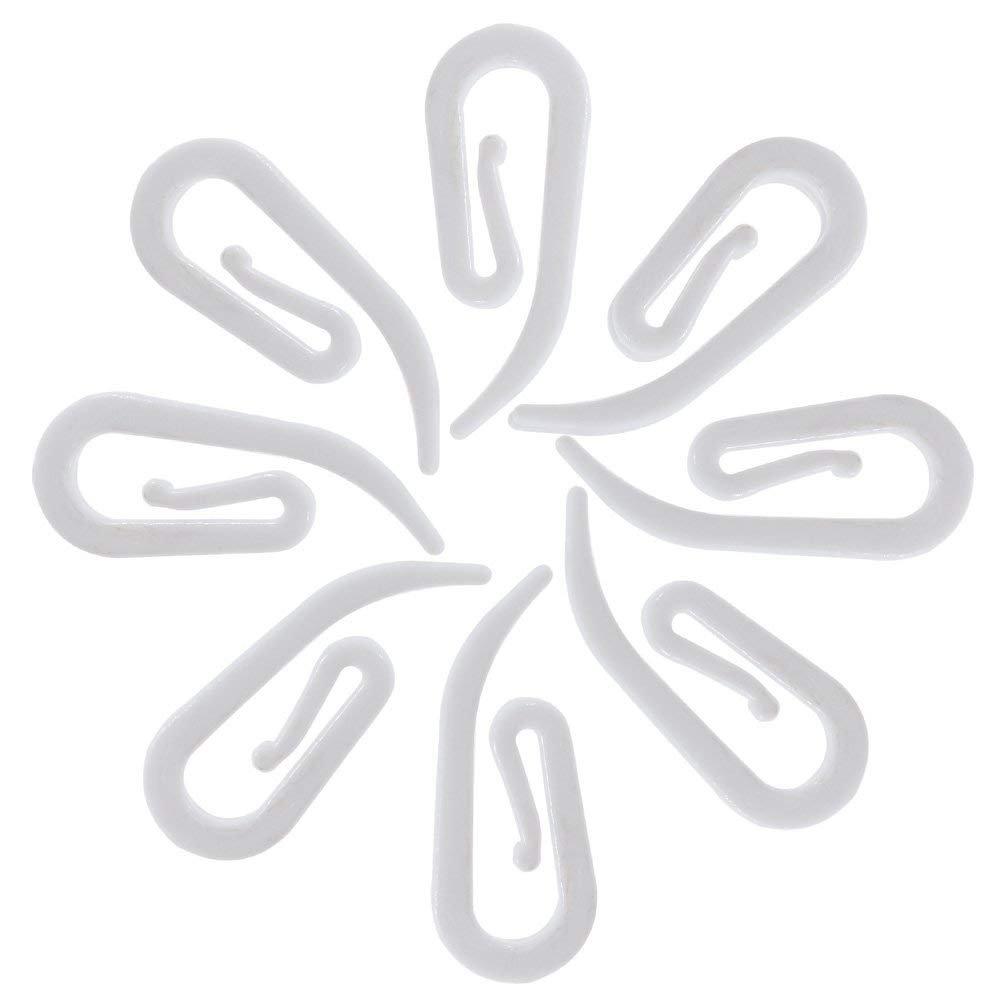 convient pour rideaux de fen/être 27,5 x 10,8/mm Lot de 100/crochets blancs pour rideaux rideaux fronc/és ou /à ruban et rideaux de douche