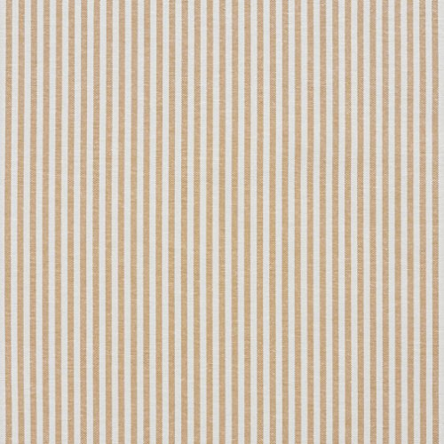 A564 Gold And White Ticking Stripes Cotton Heavy Duty Upholstery Fabric By The (Timeless Ticking Stripe)
