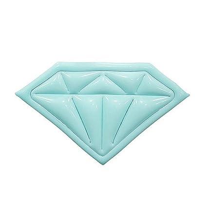 Flotadores De Piscina Inflables Para Adultos Forma De Diamante Gigante, Con Válvulas Rápidas Playa De