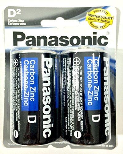 (2Pc Size D Panasonic Batteries Super Heavy Duty Power Zinc Carbon)