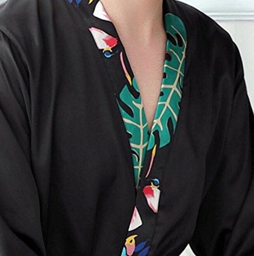 Wanyne -dressing Robes Avec Les Hommes De Robe De Sangle Laisse Des Robes De Chambre Chemise De Nuit De Col Orné De Perles Fixées