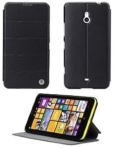 Rock Excel Funda con Tapa para Nokia Lumia 1320 - Negro