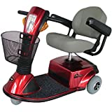Zip'r Mobility - Breeze - Travel Scooter - 3-Wheel - 18W x 16D Seat - Red