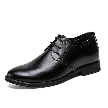 detailed look d9eb4 733d2 yajie-Shoes, Scarpe da Cerimonia Uomo Nere Scarpe Stringate ...