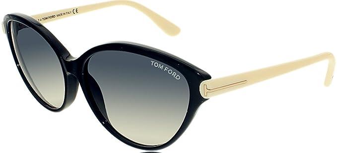 Tom Ford Women's TMF-SUNG-FT0342-05B-60 Designer Sunglasses, Black