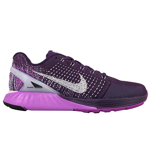 Nike Wmns Lunarglide 7 Flash, Zapatillas de Running Para Mujer Verde (Grnd Prpl / Rflct Slvr-Vvd Prpl)