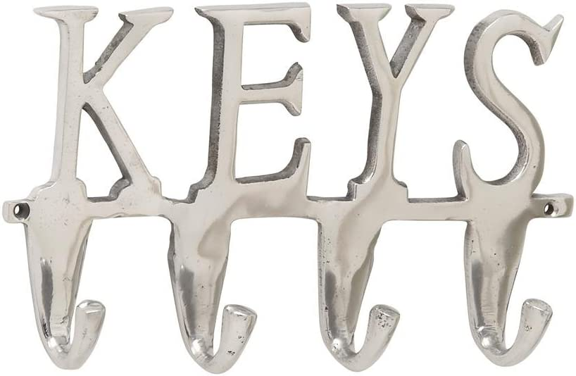 Deco 79 28469 Keys Wall Hook 12 W x 6 H