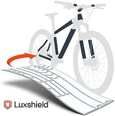 Luxshield Película Protectora de Pintura para Bicicleta Electrica, BMX, Carretera, Trekking, etc. - Conjunto para Cuadro de 20 Piezas contra Golpes de Piedras - Transparente Mate y Autoadhesivo: Amazon.es: Deportes y aire libre