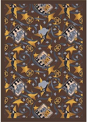 Joy Carpets Any Day Matinee Silver Screen Theater Area Rugs, 92-Inch by 129-Inch by 0.36-Inch, Chocolate