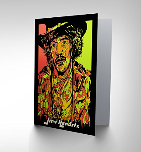 Price comparison product image NEW JIMI HENDRIX PAINTING RED GUITAR CHRIS EVRY MUSIC GREETINGS CARD CP1138
