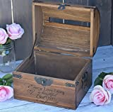 Every Love Story is Beautiful But Ours is my Favorite with Names and Date on Lid Slats - Wedding Card Box - Wedding Card Holder - Rustic Wedding Decor - Keepsake Box