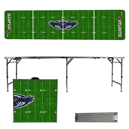 NCAA Florida Atlantic University FAU Owls Football Field Version 8 Foot Folding Tailgate Table by Victory Tailgate