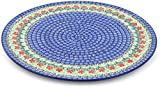 Polish Pottery 13-inch Pizza Plate made by Ceramika Artystyczna (Maraschino Theme) + Certificate of Authenticity