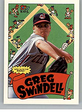74355b23382 1992 Topps Kids Baseball  72 Greg Swindell Cleveland Indians Official MLB  Card