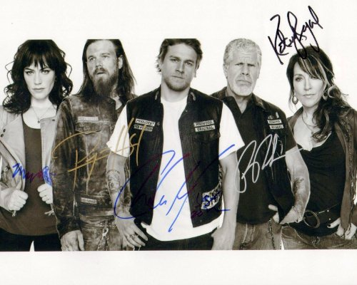 Sons Of Anarchy Signed Rp Cast Show Photo Hunnam