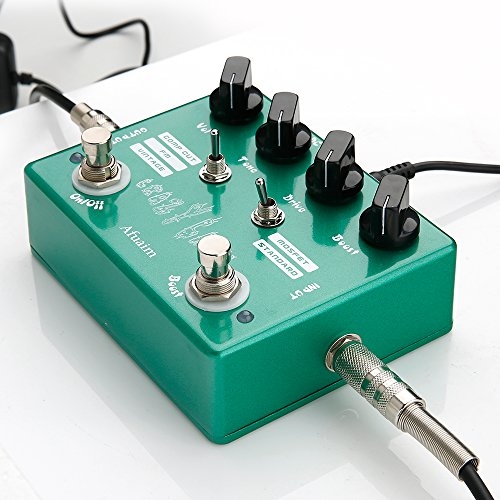 2 Multi Effects (Afuaim Overdrive Pedal AOD-2 Crazy Cacti Overdrive Boost Guitar Multi Effects Pedal True Bypass)