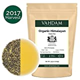 Organic Green Tea Leaves from Himalayas (50 Cups), 100% Natural Detox Tea, Weight Loss Tea, Cleansing Tea & Slimming Tea, Powerful Anti-Oxidants, 2017 Fresh Harvest, Green Tea Loose Leaf, 3.53oz