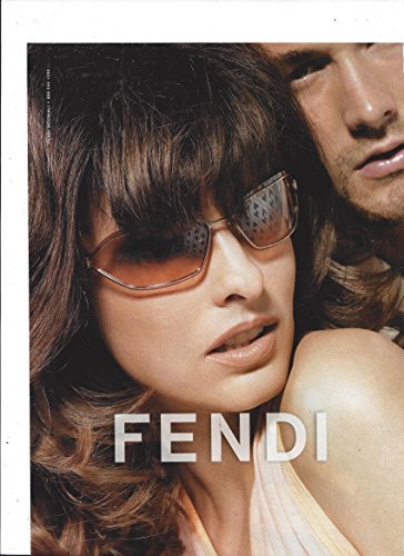 **PRINT AD** With Linda Evangelista For 2004 Fendi - 2004 Sunglasses