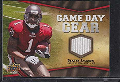d8fcce64fa6d 2009 Upper Deck Dexter Jackson Buccaneers Game Day Gear Jersey Football Card   NFL-DC
