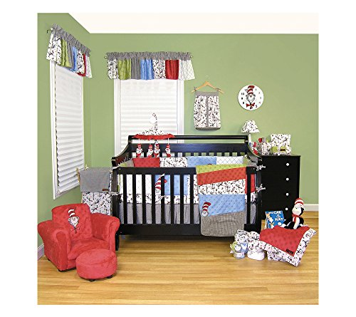 Dr. Seuss The Cat in the Hat Baby Bedding Collection by Trend Lab 3 Piece Crib Set