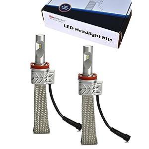 Sinoparcel H11 LED Headlight Bulb - 8,000 LM (2 Bulbs) - Latest All-in-One H8 Lights Conversion Kit 2 Yr Warranty