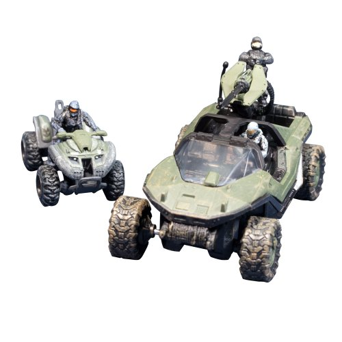 Halo 2 Warthog - McFarlane Toys Halo Micro Ops Series 1: Warthog and Mongoose with 2 Spartans and Trooper