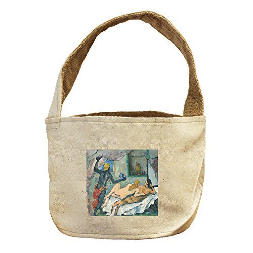 Afternoon In Naples (Cezanne) Canvas and Burlap Storage Basket Basket (Naples Florida Gift Baskets)