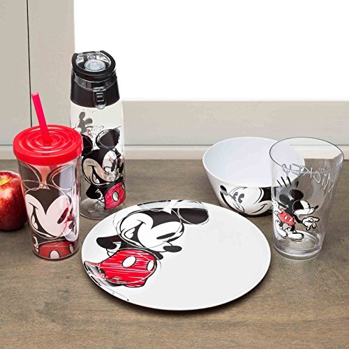 Zak Designs Perfect Dinnerware for Indoor/Outdoor Activities (27 oz, BPA-Free, Kids' Soup Bowl, Made with Durable Melamine Material, Disney Mickey Mouse