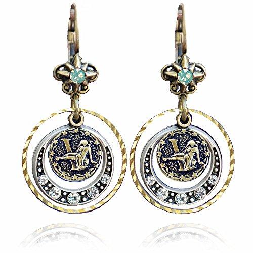 Virgo Zodiac Sign Astrology Earrings - August and September Birthday Gifts