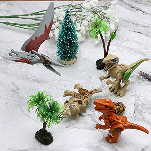Wenini Dinosaur Toys, Mini Dinosaur DIY Building Blocks Action Figures Playset Party Favors Toys Kids Boys Toddler Educational Gifts (G❤️) by Wenini (Image #6)