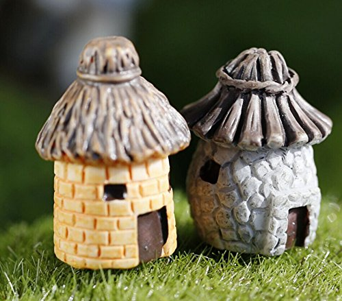 ❤Ywoow❤ Decor , Mini Round Cartoon Expression House Resin Decorations for Home and Garden DIY Mini Craft Cottage Landscape Decoration