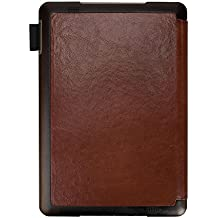 """BOOX Ereader PU Leather Cover 9.7"""" Tablet Case Auto Sleep/Wake Laptop Notebook Carrying Case Brown"""