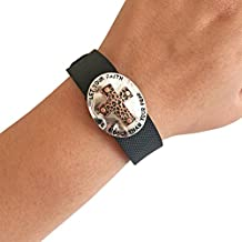 Charm to Accessorize the Vivosmart HR, Vivofit, Fitbit Charge or Charge HR - The FAITH CROSS Engraved Metal Cross Charm to Dress Up Your Favorite Fitness Tracker
