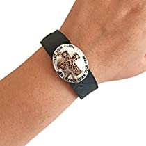 Charm to Accessorize the Vivosmart HR, Vivofit, Fitbit Charge or Charge HR - The FAITH CROSS Engraved Metal Cross Charm to Dress Up Your Favorite Fitness Tracker (Silver/Copper, Garmin Vivofit)