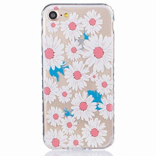 Ougger Apple iPhone 7 Custodia Case, Antigraffio Trasparente Cristallo Durevole Slim Morbido TPU Gomma Silicone Flessibile Protettivo Skin Shell Bumper Rear (Modello 8)