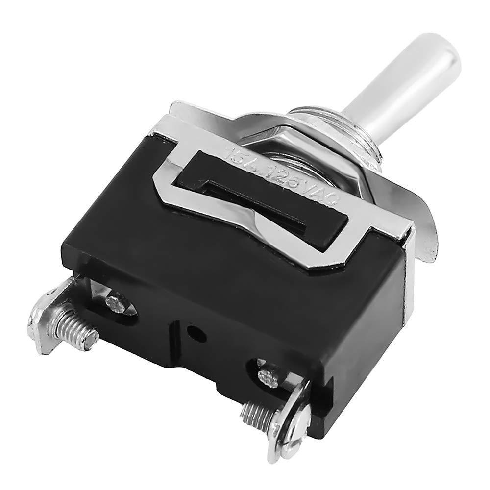 Lot de 5 interrupteurs /à bascule SPST 2 p/ôles marche//arr/êt 12 V 24 V 220 V 230 V