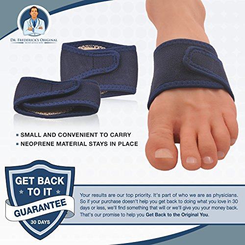 Dr. Frederick's Original Arch Support Brace Set - Two Orthotic Insole Wraps for Plantar Fasciitis and Flat Feet - Fast Relief of Foot Pain by Dr. Frederick's Original (Image #4)