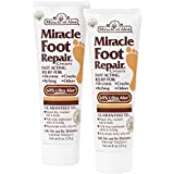 Miracle Foot Repair Cream 8 oz - 2 Pack with 60% Pure Organic Aloe Vera Softens Dry Cracked Feet
